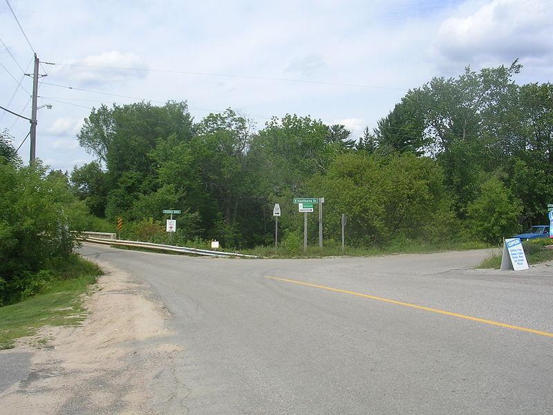 Highway 534 in Restoule, Ontario