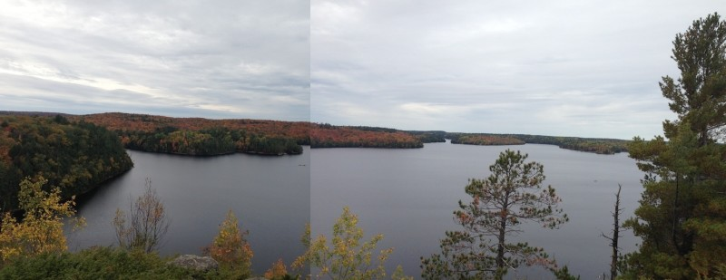 Yes, this is my attempt at a panoramic view of Restoule Lake, in Restoule Provincial Park.