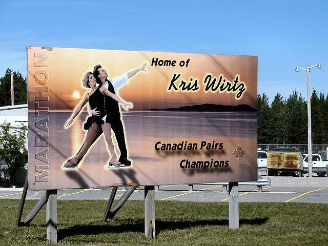 Marathon billboard Kris Wirtz Ontario highway11.ca