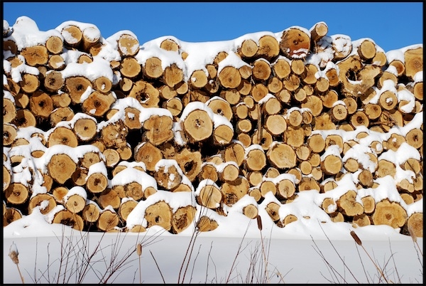 highway11.ca, woodpile in Timmins, ON
