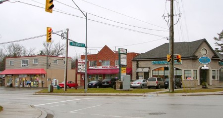 Yonge Street in Holland Landing, Ontario