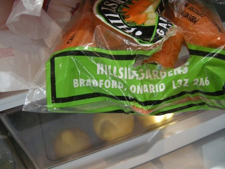 Carrots from Bradford, Ontario, Holland Marsh, highway11.ca