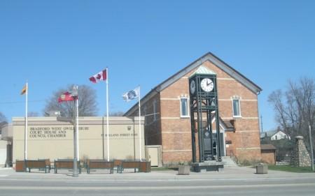 Bradford, Ontario Yonge Street Highway 11 court house