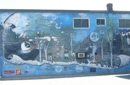 Bradford, Highway 11 Yonge Street mural, Ontario