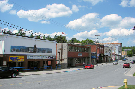 Cobalt, Ontario, downtown, highway11.ca Ontario Highway 11