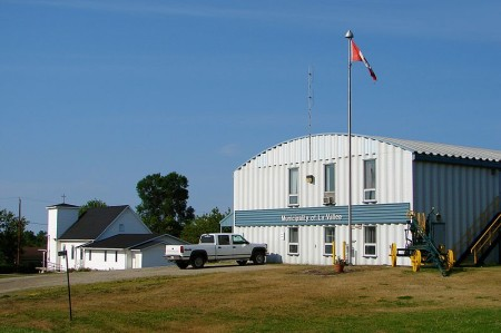 La Vallee and Devlin Ontario share a municipal office, on Highway 11