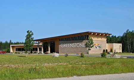 Greenstone municipal building in Geraldton, Ontario, north of Highway 11