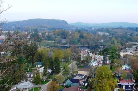 Hunstville from above, highway11.ca Ontario