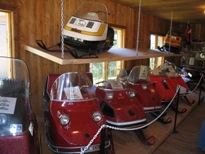Old Tyme Village ski-doo collection, Cochrane, Ontario