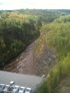 Fraserdale, hydro generating station, highway 11