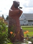 Fauquier's creepy giant smoking groundhog on Highway 11
