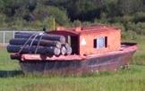 Lumber boat, Opasatika, Ontario Highway 11