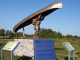 Fur trading monument, Mattice, Highway 11 Ontario