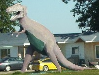 T-Rex in Mattice, Northern Ontario, Highway 11