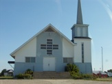 Church in Val Coté, Ontario, Highway 11