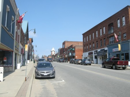 Downtown Bracebridge, Ontario, just west of Highway 11 / Yonge Street