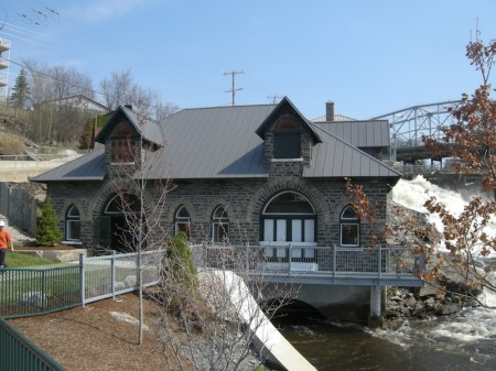 On my last visit, volunteers were repainting Bracebridge's old hydro station - it's going to be a town museum.