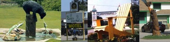 Gravenhurst on Yonge St, Highway 11 Ontario