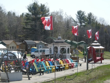 More AdirondackoopsImeanMuskoka chairs on Highway 11