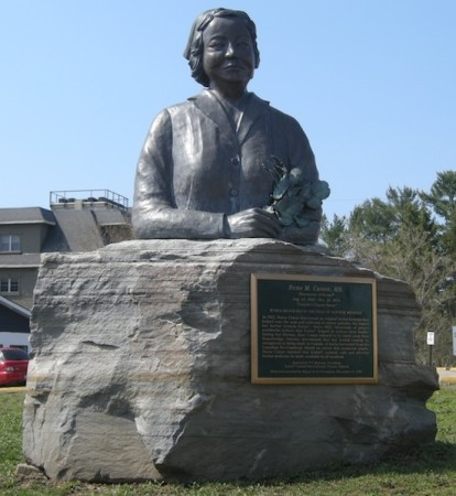 This was kinda neat - a statue commemorating a local midwife whose naturopathic discoveries, based on knowledge from local First Nations