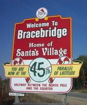 SANTA! I KNOW HIM! HE LIVES IN BRACEBRIDGE