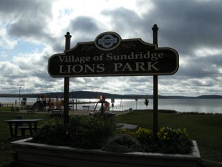 Sundridge Lake Front park, highway 11