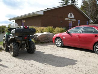 Sundridge ATV parking, Highway 11
