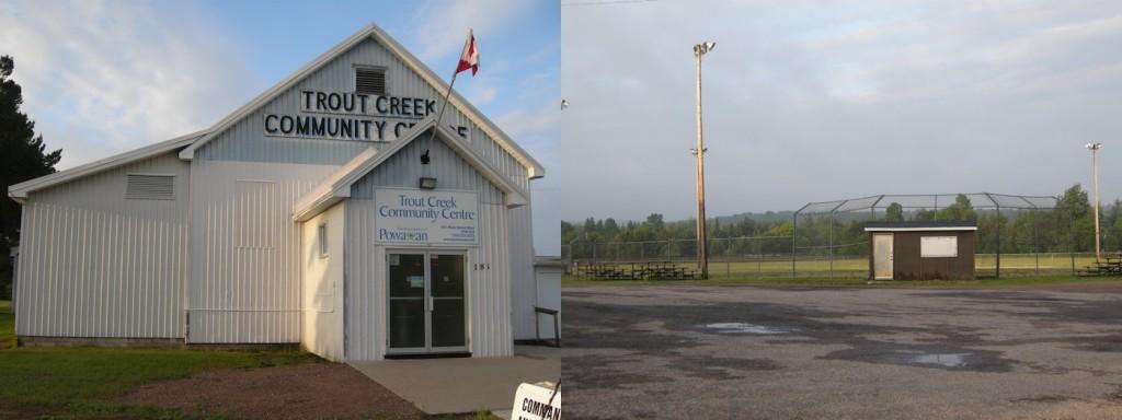 Trout Creek, ontario, powassan, community centre, highway 11,
