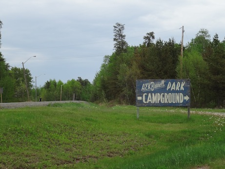 Atikokan camp site, highway 11