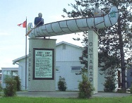Longlac welcome sign, Highway 11