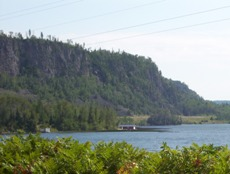 Beautiful cliffs of Lake Nipigon