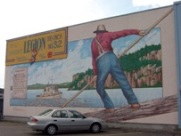 Nigion is full of murals Highway 11 Ontario