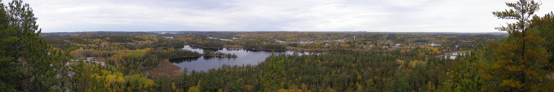 Panorama from hiking trails of HIghway 11, Temagami, Ontario