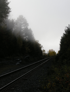 ONTC line near Temagami, Highway 11 Ontario
