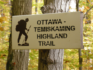Ottawa-Temiskaming Highland Trail, near Latchford, Ontario