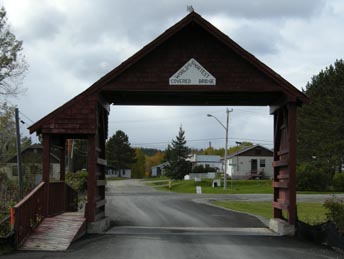 Latchford, Shortest Covered Bridge in the World, Highway 11