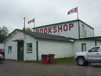 Highway 11 Book Shop, now closed. Cobalt, Ontario