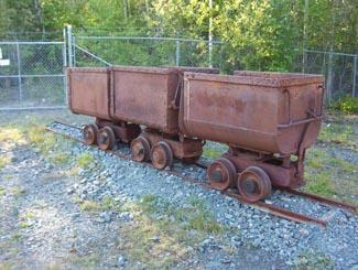 Old mining carts, Cobalt, Ontario