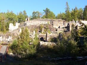 Mining ruins, Cobalt, Highway 11 Ontario