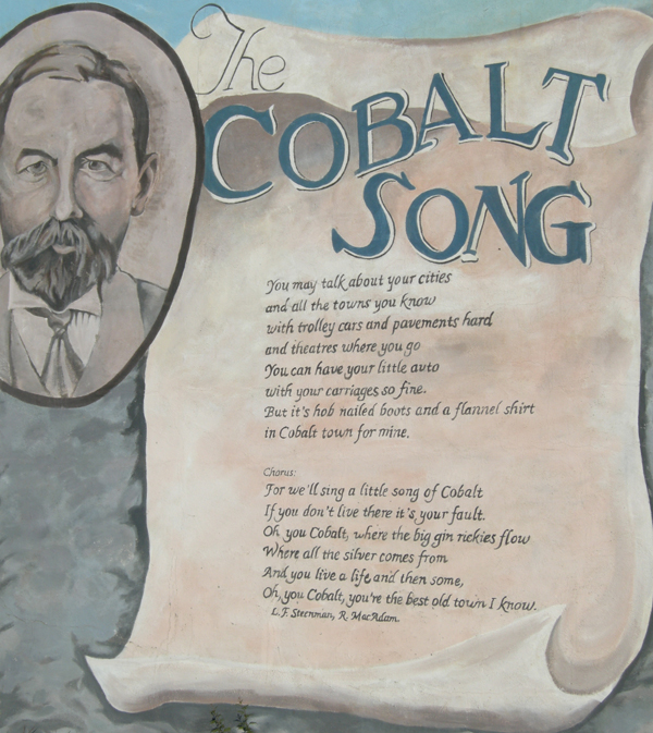 The Cobalt Song Mural, Cobalt, Highway 11 Ontario