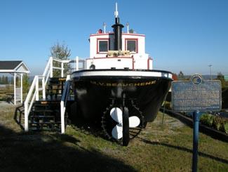 Lumber boat in Haileybury, ontario