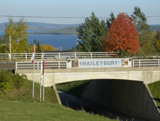 Haileybury, Ontario on Highway 11