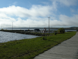 Boardwalk on Lake Temiskaming, New Liskeard