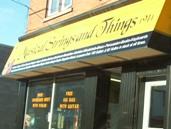 Music store, Englehart, Ontario Highway 11