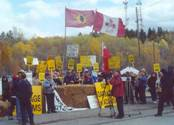 Kirkland Lake Adams Mine Protest