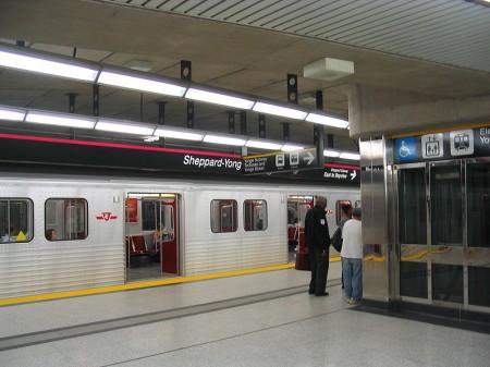 Highway 11 subway Sheppard, Yonge street