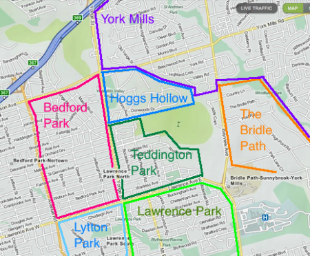 York Mills - North Yonge Street Neighbourhood Map